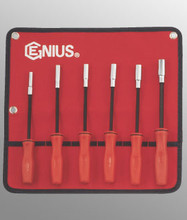 Genius Tools SAE Long Hex Nut Driver w/ MagnetSet6 Pc NM-006SD