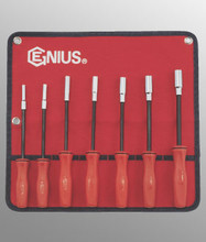 Genius Tools SAE Long Hex Nut Driver Set 7 Pc ND-007SD