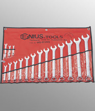 Genius Tools SAE Combination Wrench 16 Pc Set HS-016S
