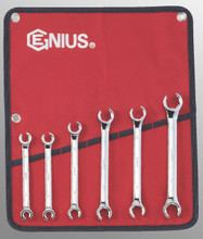 Genius Tools Metric Flare Nut Wrench 6 Pc Set FN-006M