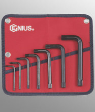 Genius Tools Metric L-Shaped Triple Square Wrench 7 Pc Set HK-007TS