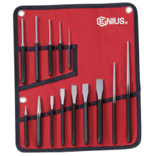Genius Tools Metric Punch & Chisel 14 Pcs Set PC-514M