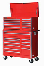 "Williams 10 Drawer Super Value Top Chest 42"" X 18"" Red 50741 (Roll Cabinet NOT included)"