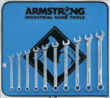 Armstrong USA Tools Metric 10 Pc. Full Polish Long Combination Wrench Set 52-631