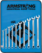 Armstrong USA Tools Metric Full Polish X-Long Combination Wrench Set 52-671
