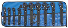 Armstrong USA Tools Metric 10 Pc. Ratcheting Flare Nut Wrench Set 55-386