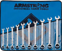 Armstrong USA Tools Metric 10 Pc. Reversible Ratcheting Wrench Set 54-950
