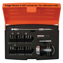 Bahco Tools Stubby Ratcheting Screwdriver Set 18-Pcs 808050S-18