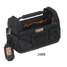 "Bahco Tools 17"" Open Tote Caddy Tool Bag Organizer 3100TB"