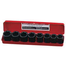 "Genius Tools Metric 3/4"" Drive Impact 6 Point Socket 8 Pc Set CM-022"