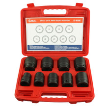 "Genius Tools Metric 3/4"" Drive Impact 6 Point Socket 9 Pc Set IS-609E"