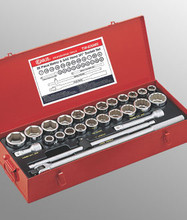 "Genius Tools SAE & Metric 3/4"" Drive Hand 6 & 12 Point Socket 26 Pc Set TW-626MS"