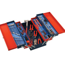 Genius Tools Metric Mechanics Tool 142 Pc Set with 5 Tier Portable MS-142TS