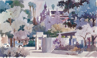 Signed 23/50 Downtown Mall Riverside Large Giclee print.