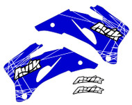 Blue/White color way of the VK Rise series Yamaha non custom shroud decals.
