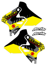 An example of the Suzuki VK Series Black/Yellow shroud kit customized.