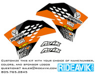 KTM VK Series Semi Custom Shroud Decals