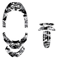 Digital Camo Non Custom Leatt Brace Decal Kit