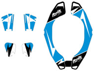 MJR Series Non Custom Atlas Brace Decal Kit