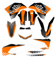 KTM VK Series Non Custom Graphic Kit Semi Custom Backgrounds