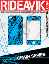 Avik mx graphics Grain series iPhone wrap. Choose your own motocross sponsors for your own custom iPhone graphics.