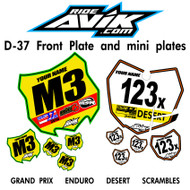 D37 style front plate only