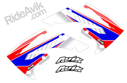 Red white blue color way shown