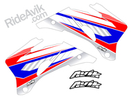 Yamaha Kudla ISDE13 red/white/ blue non custom shroud decals