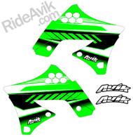 Kawasaki Kudla ISDE13 Green/Black custom shroud decals