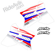 Suzuki Kudla ISDE13 red/white/blue custom shorud decals