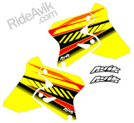 Suzuki Kudla ISDE13 yellow/red custom shorud decals