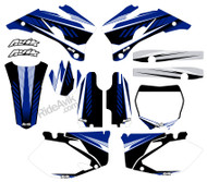Customize with your choice of sponsor logos, highlight colors, and number plate details.