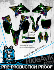 Yamaha VK Rise Color Custom Graphic Kit