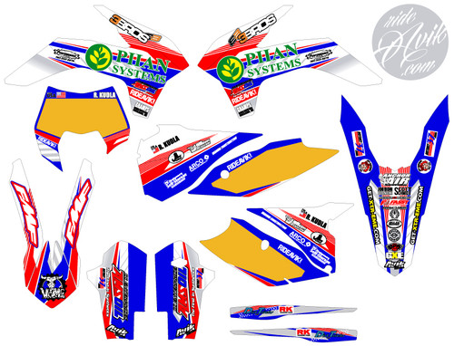 Choose your own sponsor logos and number plate details!