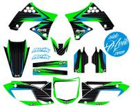 Kawasaki Balt Series Blue Green Non Custom Graphics