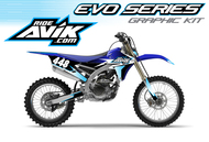 Yamaha Evo Series Non Custom Graphic kit with custom backgrounds