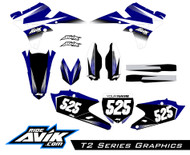 Yamaha T2 Series Graphic Kit Yamaha Blue