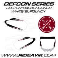 Yamaha Defcon Series Custom Backgrounds Burgundy Highlight