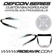 Yamaha Defcon Series Custom Backgrounds White/Process Blue Highlight