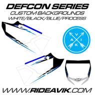 Yamaha Defcon Series Custom Backgrounds Black/YamahaBlue/Process Blue Highlight