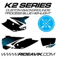 KTM K2 Series Custom Backgrounds Process Blue Highlight