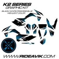 KTM K2 Series Custom Graphic Kit Process Blue Highlight