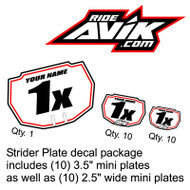 Strider Plate Decal Package