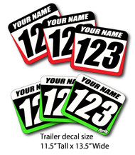 Hub Style Trailer Decals