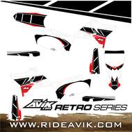 Custom Yamaha Retro Graphic Kit White/Red
