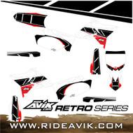 Semi Custom Retro Yamaha Graphic Kit Red/White
