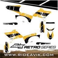 Semi Custom Retro Yamaha Graphic Kit Yellow