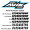 Avik number styles available for custom printed dirt bike number plates.