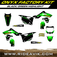 Onyx Kawasaki Factory Semi Custom Graphic Kit