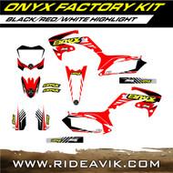 Honda Onyx Factory Custom Graphic Kit Black/Red/White highlight